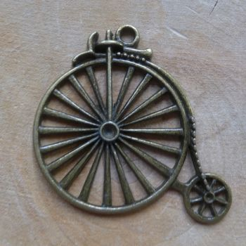 Steampunk Large Penny Farthing Charm (C100)