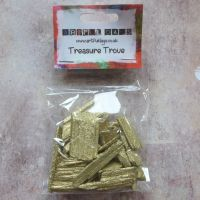 Gold Glitter Wooden Pieces