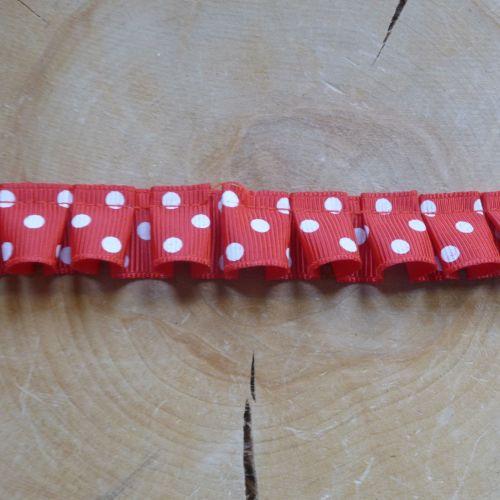Ruffled Ribbon - Red Polkadot