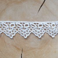 White Lace Trim Ribbon