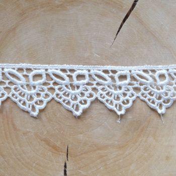 White Lace Trim Ribbon