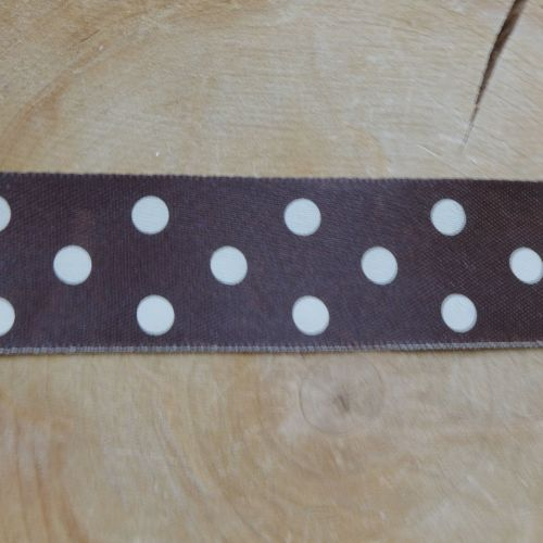 Polka-dot Stain Ribbon - Brown