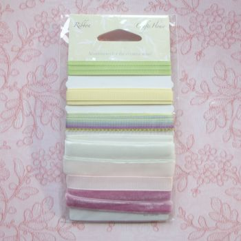 Assorted Ribbons Pinks/Greens