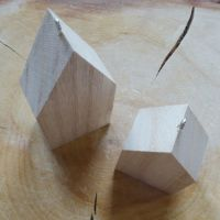 Chunky Wooden Hanging Houses
