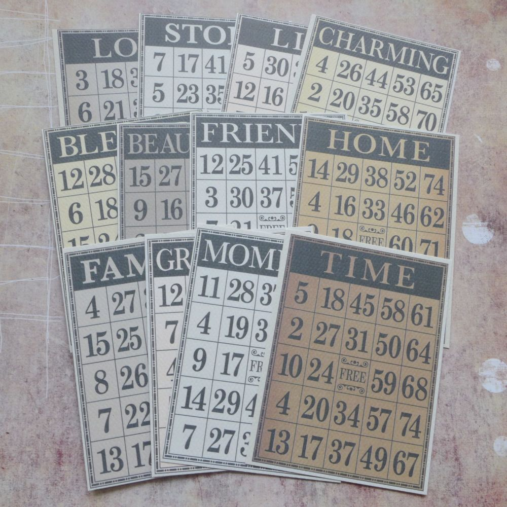 Set of 12 Bingo Cards