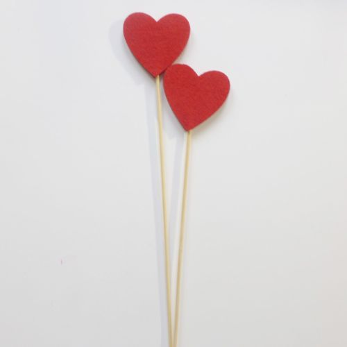 Felt Heart Sticks