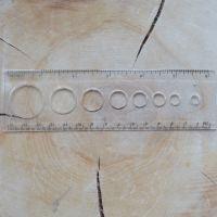 """Multipurpose Clear 6"""" Circle Ruler"""