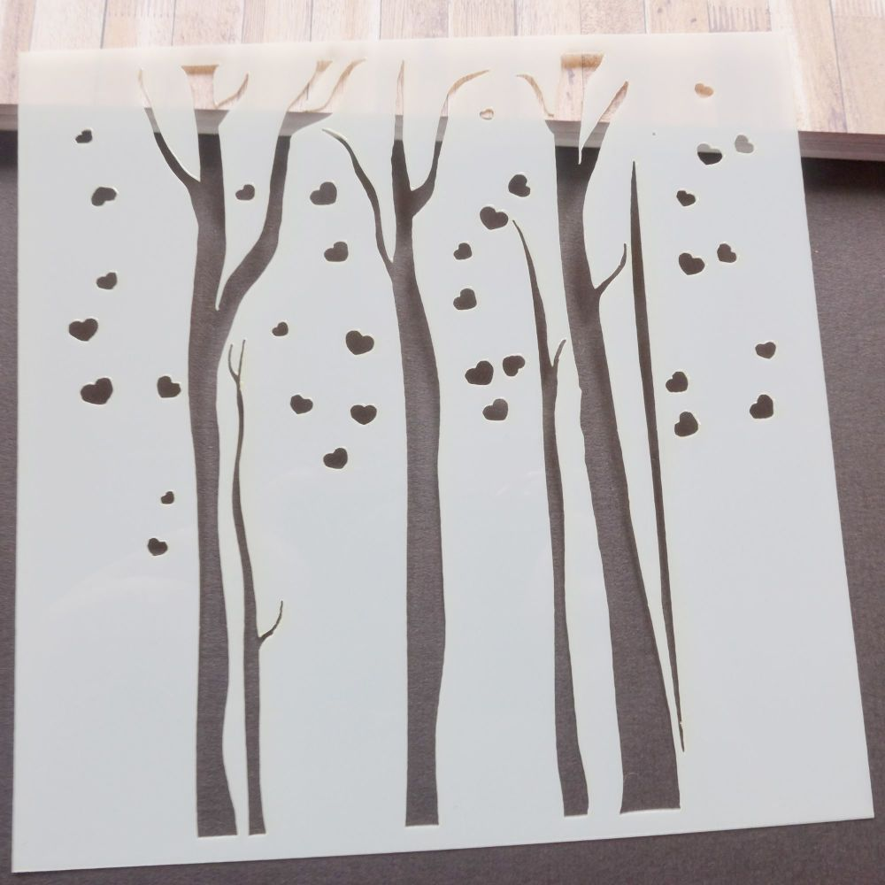 Stencils ~ Trees with Hearts