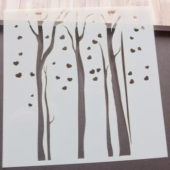 Stencil ~ Trees with Hearts