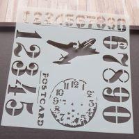 Stencil ~ Numbers/Aeroplane Mix