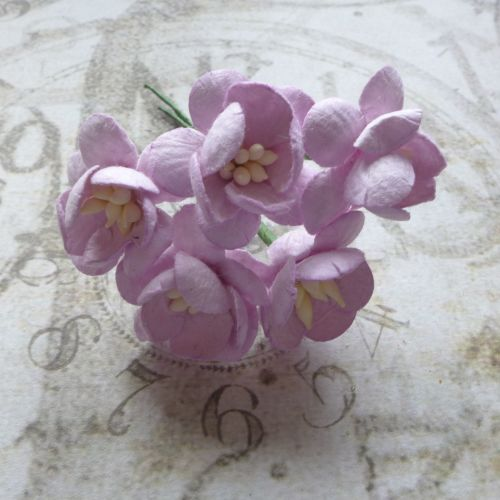 Cherry Blossom Mulberry Paper Flowers ~ Lilac (PF031)