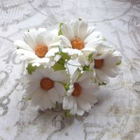 Mulberry Paper Daisies ~ White (PF035)