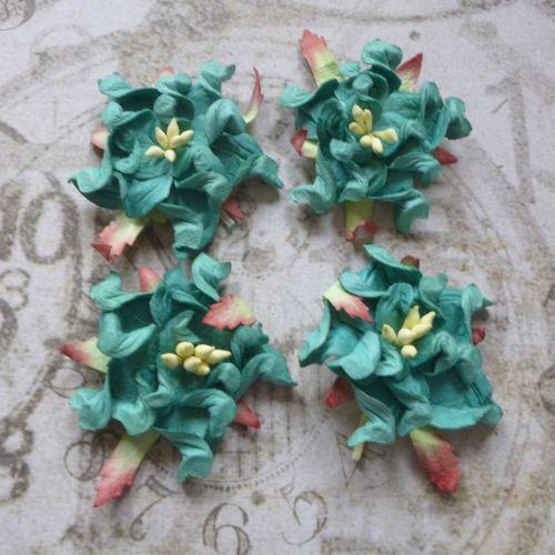 Mulberry Paper Gardenia's ~ Jade (PF040)
