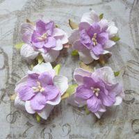 Mulberry Paper Gardenia's ~ Lilac/White Blend (PF018)