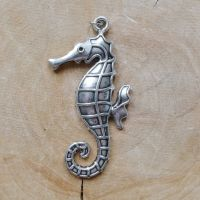 Large Silver Seahorse Charm (C123)