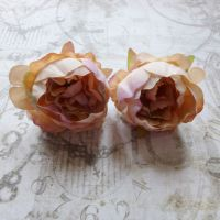 Peony Fabric Flowers ~ Mixed Latte (F6041)