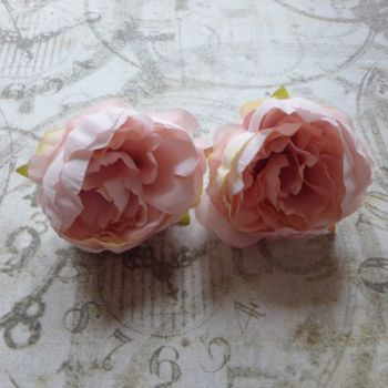 Peony Fabric Flowers ~ Pale Pink (F6042)