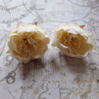 Peony Fabric Flowers ~ Cream (F6044)
