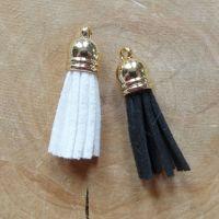 Black & White Tassels (ES020)