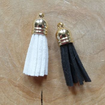 Black & White Tassels (ES020)