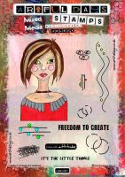 Artful Days Rubber Stamps - Girl001 A5 Stamp Set