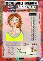 Artful Days Rubber Stamps - GIRL002 Stamp Set