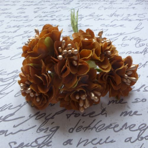 Fabric Flowers - Rusty Brown (F6007)