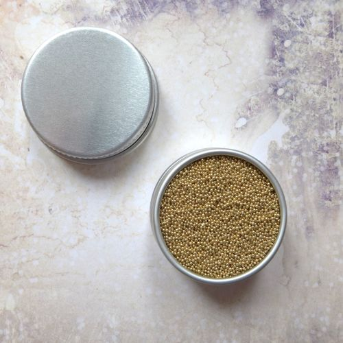 Petite Pots ~ Metallic Micro Beads Gold 02