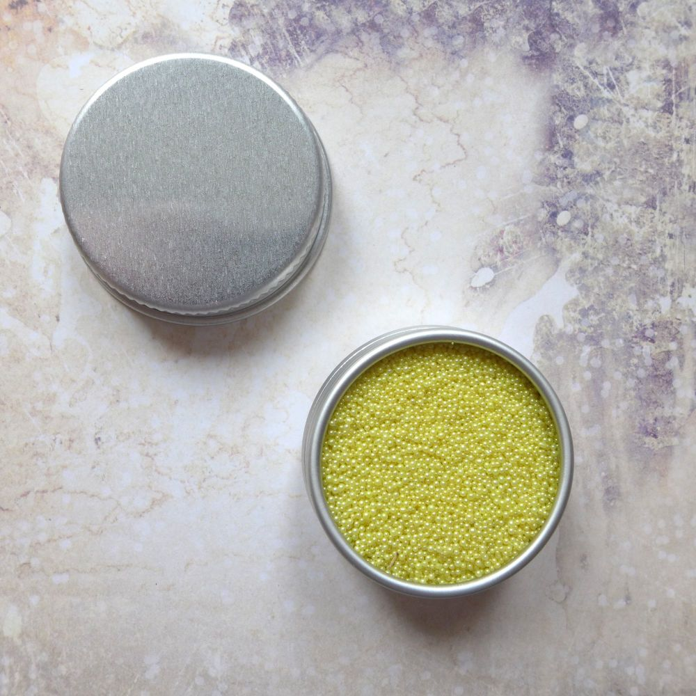 Petite Pots ~ Pearl Micro Beads Yellow 03