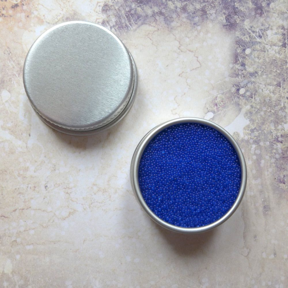 Petite Pots ~ Translucent Micro Beads Royal Blue 04