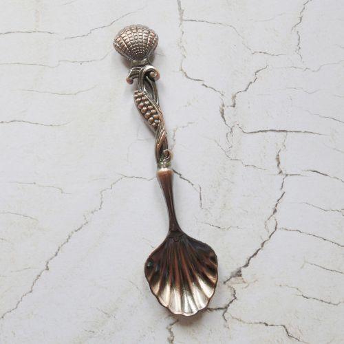 Vintage Black Cooper Spoons ~ 04 (C137)