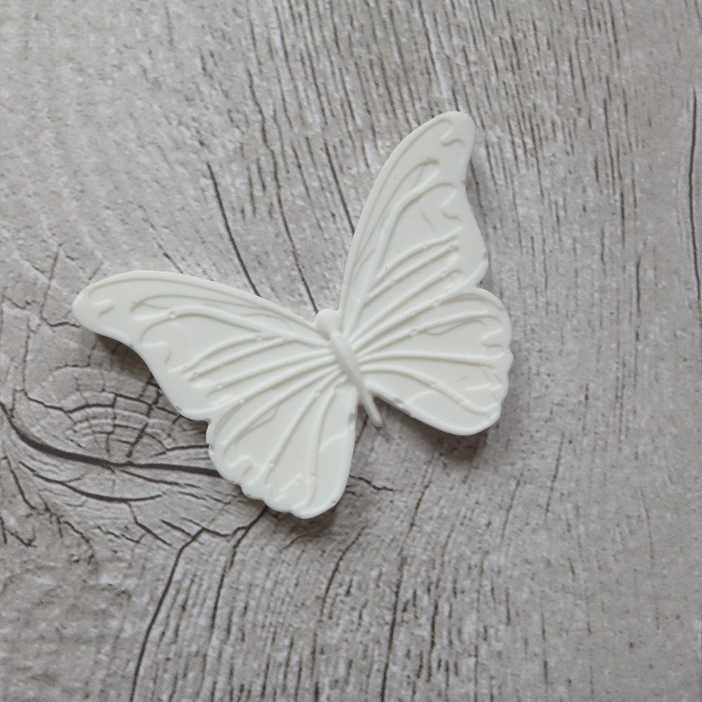 White Resin Butterfly (R7034)