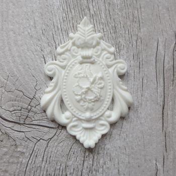 White Resin Emblem (R7036)