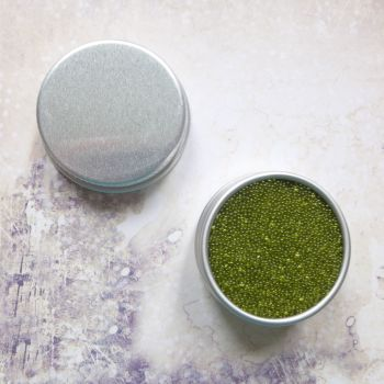 Petite Pots ~ Translucent Micro Beads Olive Green 09