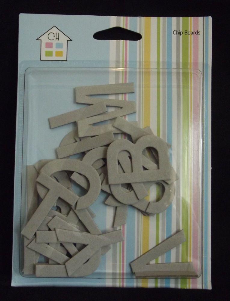 Large Chipboard Alphabet Letters