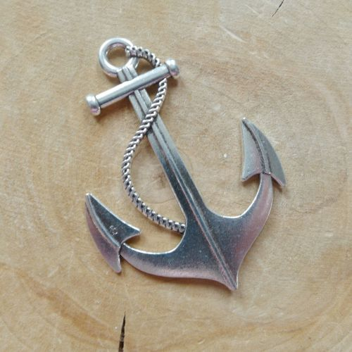Large Silver Anchor Charm (C020)