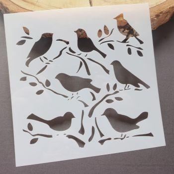 Stencil ~ Birds