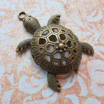 Large Bronze Turtle Charm (C158)