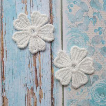 Lace Petal Flowers - White