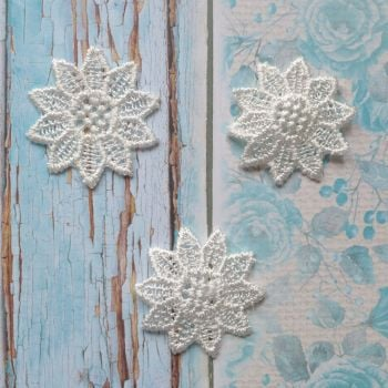 Lace Flowers - White