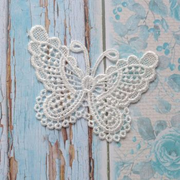 Lace Butterfly - White