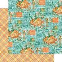 12 x 12 Papers Graphic 45 - Beneath the Sea Collection - Neptune's Adventure