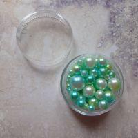 No Hole Mermaid Beads - Greens