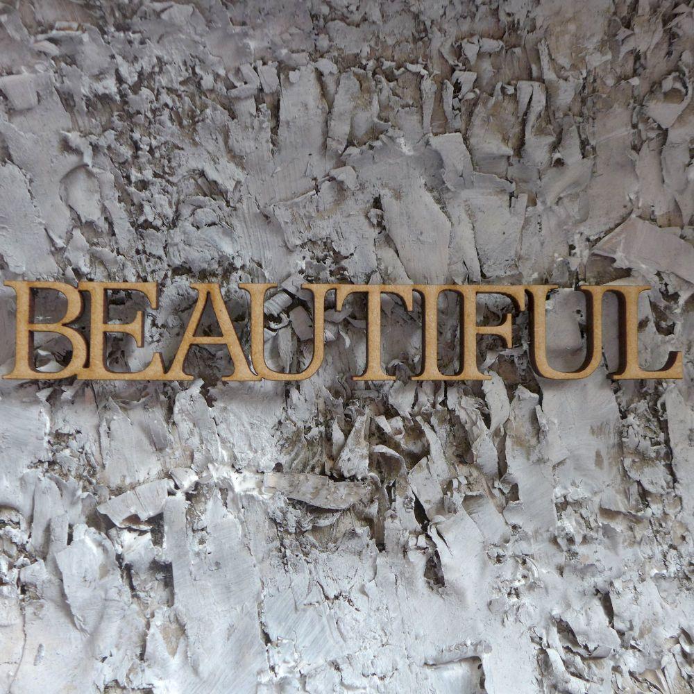MDF Large Words - Beautiful (ADM004)