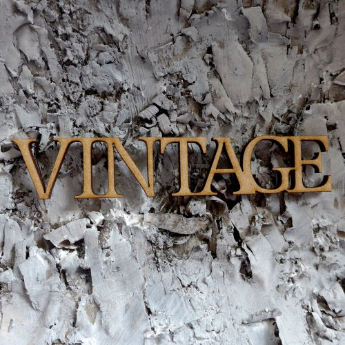 MDF Large words - Vintage (ADM006)