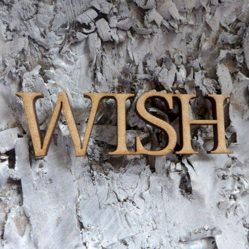 MDF Large Words - Wish (ADM007)