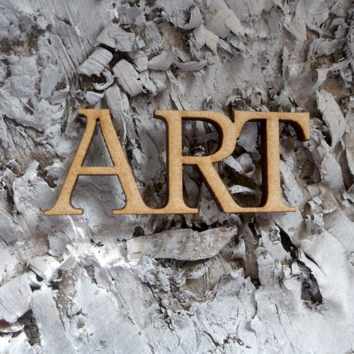 New ProductMDF Large Words - Art (MDF008)