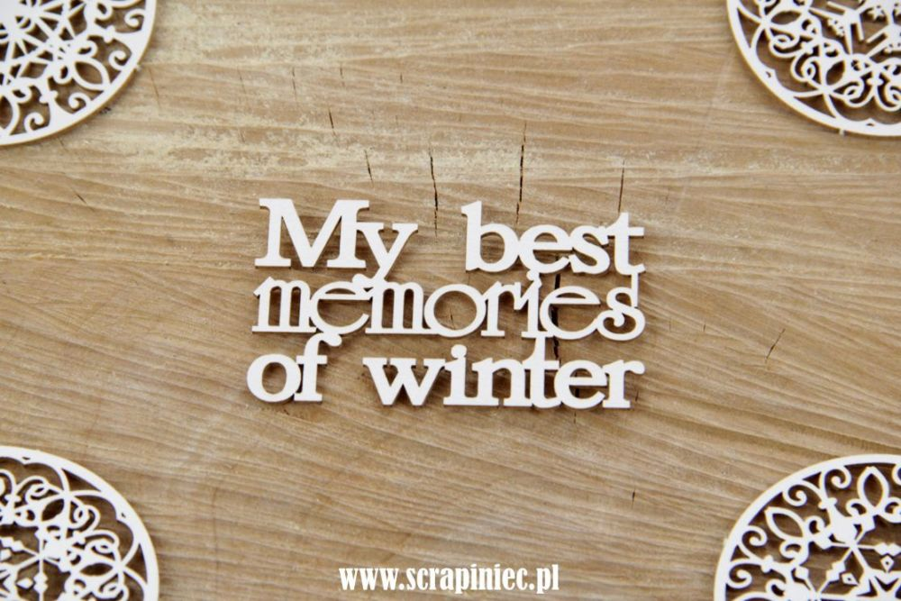 Christmas Words - My Best Memories of Winter (4015)