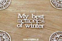 Christmas Words - My Best Memories of Winter (4015)