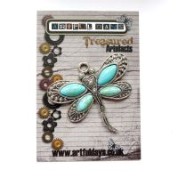 Treasured Artefacts - Exquisite Turquoise Dragonfly (TA220)